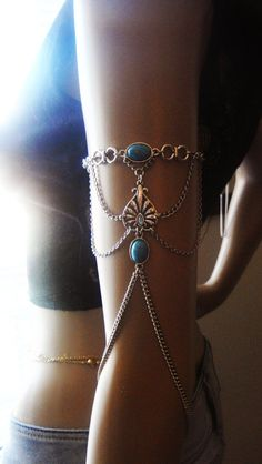 Chain Armlet Shoulder armor chain shoulder jewelry by Ninnos, $35.00