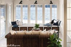 Inspiring #sunroom with great view of the ocean. Check more at www.wisconsinrealestate.com