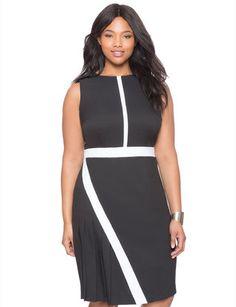 Asymmetrical Pleated Dress from eloquii.com