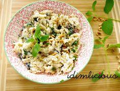 Ricotta mint pasta, get the recipe on my blog idimin.berlin #food #essen #delicious #tasty #yummy #healthy #lecker #leckerschmecker #schmecktgut #cooking #recipe #Rezept #veggie #pinenuts #vegetarisch #vegetarian #kochen #Pasta #pastadish #pastagericht #mint #minze