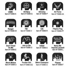 Custom Glock Slide Cover Plates available at glockstore.com
