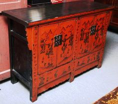 #Red #Asian #Antique #Sideboard YN119 $2,980 #furniture  I Have Something
