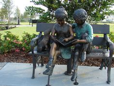 Mary Ann Cernuto Park is a quiet place with a plaza and covered pavilion. An open area with benches allows patrons to relax and admire the beautiful sculptures surrounding the park.