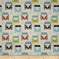 Premier Prints Love Bus Village/Natural from @fabricdotcom  Screen printed on natural cotton duck; this versatile medium weight fabric is perfect for window accents (draperies, valances, curtains and swags), accent pillows, duvet covers and upholstery. Create handbags, tote bags, aprons and more. *Use cold water and mild detergent (Woolite). Drying is NOT recommended - Air Dry Only - Do not Dry Clean. Colors include village blue, lime, rust, brown and natural.