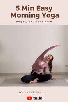 Easy morning yoga stretch routine that you can do directly in your pajamas without a yoga mat :) Find more 5 minute yoga videos in 5 MIN YOGA PLAYLIST: https. Morning Yoga Stretches, Morning Yoga Flow, Morning Workout Routine, Daily Yoga Routine, Mano Brown, Videos Yoga, Yoga Playlist, Beginner Yoga Workout, Learn Yoga