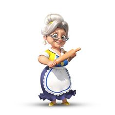 Cartoon Girl Drawing, Cartoon Drawings, Cartoon Art, Cartoon Characters, Character Sketches, Character Concept, Character Art, Character Design, Cartoon Grandma