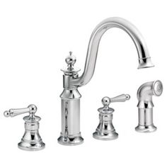 Moen Waterhill Chrome High-Arc Kitchen Faucet with Side Spray Item #: 89236 |  Model #: S712 $469.09