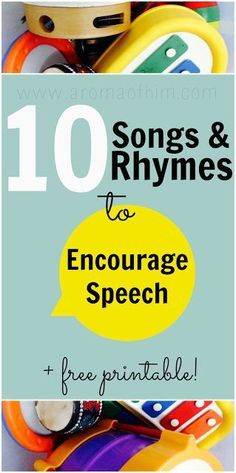 Encouraging Speech with Songs, Rhymes & Puppets and free printable #homeschool #speech Repinned by SOS Inc. Resources pinterest.com/sostherapy/. (scheduled via www.tailwindapp.com)