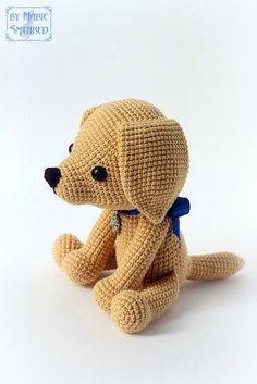 Вязаная игрушка лабрадор крючком амигуруми