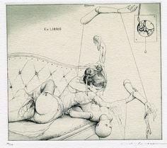 The Sensuous, Beautiul ex-libris of Alphonse Inoue | apm65
