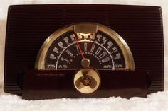 """GE General Electric Classic Vintage """"Atomic Age"""" 1952 AM FM Tube Radio RESTORED #GeneralElectricGE"""