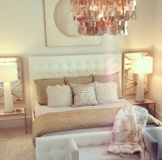 Move our Z Gallerie chandelier over the bed in this house!