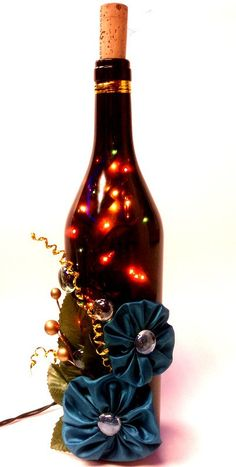 Another great idea on how to reuse a wine bottle to make something beautiful
