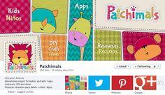 Patchimals is the FaceBook PageOfTheDay at The Mommy Guide // Patchimals es la página seleccionada del día en The Mommy Guide