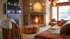 Galileo Boutique Hotel: Handsome modern furnishings, stone floors and roaring fires give the large rooms a cozy vibe.  Bariloche, Argentina.