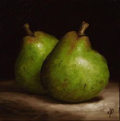 """Daily Paintworks - """"Comice Pears"""" - Original Fine Art for Sale - © Jane Palmer"""