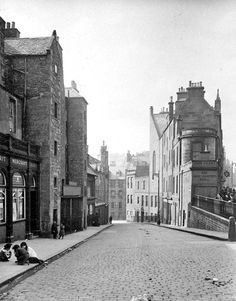 EPS Survey Section photograph - Looking down Candlemaker Row  -  by JC McKechnie, 1913