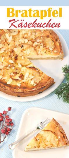 Mit diesem winterlichen Bratapfel Käsekuchen kann man wunderbar in die kalte Jahreszeit starten, vegan möglich, aus dem Thermomix