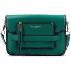 Marc Jacobs Madison Large Shoulder Midnight Emerald Green ($480) ❤ liked on Polyvore featuring bags, handbags, shoulder bags, bow handbag, leather handbags, leather shoulder bag, blue shoulder bag and emerald green leather handbags