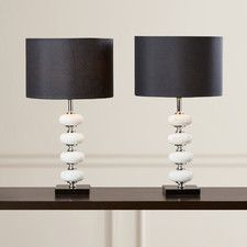 "Cirencester 21"" H Table Lamp with Drum Shade (Set of 2)"