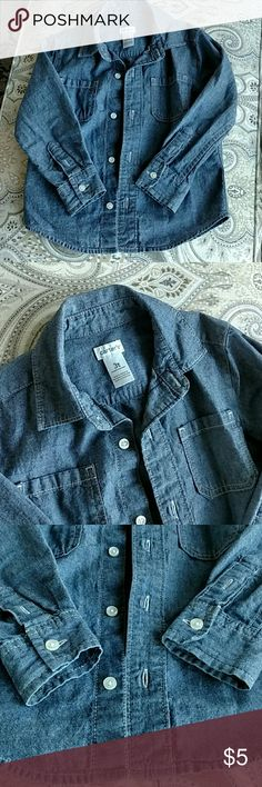 Toddler Jean shirt Carter's Boys 3t shirt. Only used under sweaters, so no spots, stains or tears! Perfect condition! Carter's Shirts & Tops Button Down Shirts