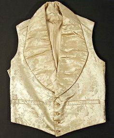 Wedding Waistcoat  Date: 1830s Culture: British Medium: silk