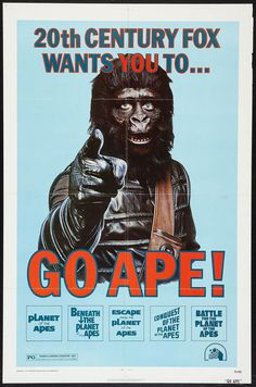 Planet of the Apes Great 1960/'s Repo Film Poster