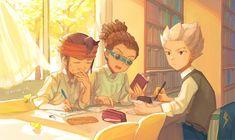 Endou, Kidou and Gouenji Inazuma Eleven Axel, Best Friendship, Thing 1, Boy Art, Cartoon Wallpaper, Httyd, Doujinshi, Character Design, Evans