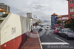 Street scene of Canico de Baixo at Madeira, Portugal