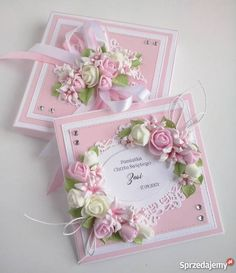 Ideas birthday woman flowers handmade cards for 2020 Wedding Cards Handmade, Beautiful Handmade Cards, Handmade Birthday Cards, Greeting Cards Handmade, Confirmation Cards, Birthday Cards For Women, Wedding Anniversary Cards, Mothers Day Cards, Pretty Cards