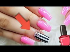 Nail art Neon Pink Color Beginners/Uñas Acrilicas Color Neon Principiantes - YouTube Nail Art Videos, Pink Color, Nails, Youtube, Fingernail Designs, Stop Staring, Yellow Nails, Bright Colours, Finger Nails