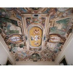 Decoration Of Villa Visconti Borromeo Litta In Lainate Canvas Art - (36 x 24)