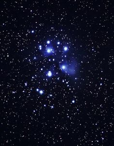Seven Sisters , pleiades Star Cluster.