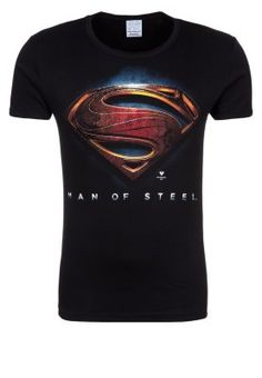 LOGOSHIRT - SUPERMAN - T-shirt print - black