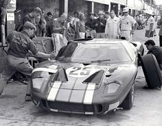 1966 12 Hours of Sebring Sir John Whitmore and Frank Gardner drove this Alan Mann Ford GT40. It failed to finish due to a bad clutch. (Ford Motor Company photo)