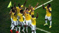 Quantity and quality, James Rodriguez delivers it all. The Colombia dynamo added to his World Cup goal tally with a sublime strike against Uruguay. Soccer Skills, Soccer Tips, World Cup 2014, Fifa World Cup, Football Match, Football Team, Lionel Messi, James Rodriguez Goal, Football Celebrations