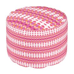 A trendy and colorful heart pattern with a stylish and nice looks, with pink hearts. You can also customize it to get a more personal look. Ottoman Design, Pink Hearts, Poufs, Heart Patterns, Hearth, Colorful, Abstract, Nice, Stylish