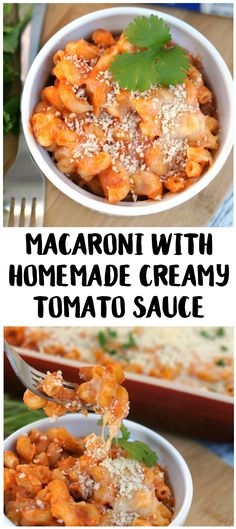 Looking for quick and easy pasta dishes? Don't miss this delicious Macaroni with Homemade Creamy Tomato Sauce recipe! It's one of my favorite things to have for dinner- just make the pasta and sauce, add some cheese, bake it in a casserole dish and voila! You can even add to it with chicken or a side salad. It's the perfect busy weeknight recipe! #DairyPureMilk #ad