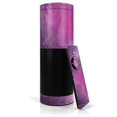 Purple Space Marble - www.theteelieblog.com Wrapped around Alexa with purple. #alexaskin
