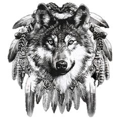 Image detail for -WS 12593 Wolf Dreamcatcher-Weiss-Wölfe, Indian-Style, Traumfänger ...