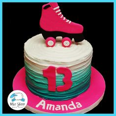 Buttercream Rollerskate Birthday Cake