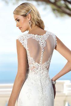 Style 416011- Beautiful lace back wedding dress