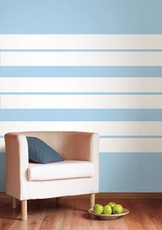 More wall stripes. Not blue.