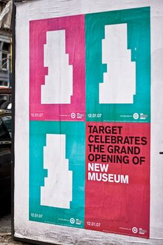 New Museum advertising posters, unknown Manhattan street view, December 2007.