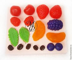 Silicone soap mold Berries by OxanaRudneva on Etsy