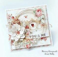 Ножи Scrapfriend – 84 фотографии Valentine Heart, Valentine Day Cards, Shabby Chic Cards, Scrapbook Cards, Scrapbooking, Vintage Crafts, Pretty Cards, Card Maker, Flower Cards