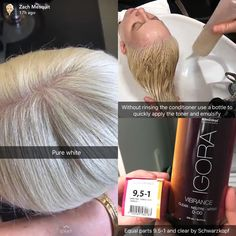 All About Hairstyles Honey Blonde Hair Color, Blonde Hair Care, Platinum Blonde Hair, Couleur Schwarzkopf, Schwarzkopf Color, Igora Hair Color, Hair Color Balayage, Diy Hair Dye, Grey White Hair