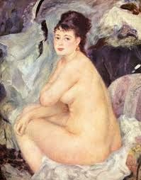 Nude Seated On A Sofa Artwork By Pierre Auguste Renoir Oil Painting & Art Prints On Canvas For Sale Pierre Auguste Renoir, List Of Paintings, Renoir Paintings, Oil Paintings, Georges Seurat, Claude Monet, Edgar Degas, Charles Gleyre, Amedeo Modigliani