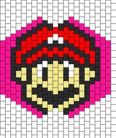 Mario Mask bead pattern