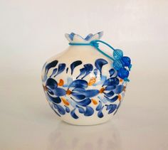 Shop for ceramic on Etsy, the place to express your creativity through the buying and selling of handmade and vintage goods. Mccoy Pottery, Polish Pottery, Floral Border, Flower Pots, Candle Holders, Clay, Pomegranates, Ceramics, Unique Jewelry